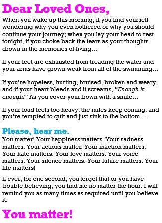 Dear Loved Ones